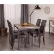 Étkezőszék, sötétbarna textilbőr/fa, VIVA NEW