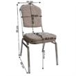 Rákásolható szék,  bézs/minta/króm, ZINA 3 NEW