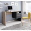 PC asztal, artisan tölgy/grafit-antracit, TULIO