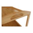 Servírovací stolík, prírodná, LUMBER