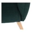 Fotel, smaragd színű/bükk, EKIN