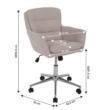 Irodai szék, anyag bézs/króm, KAILA