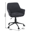 Irodai szék, szürke, LAIRA