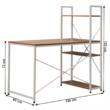 Számítógépasztal/többfunkciós praktikus asztal, tölgy/fehér, VEINA