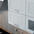 Felső szekrény, sötétszürke/fehér, JULIA TYP 6