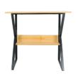 Polcos íróasztal, bükkfa/fekete, TARCAL 80