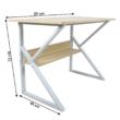 Polcos íróasztal, természetes tölgyfa/fehér, TARCAL 80