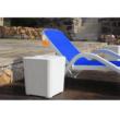 Kerti tároló doboz/kisasztal, fehér, UGUR