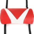 Irodai/játszószék, fekete/fehér/piros, OZGE NEW
