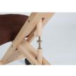Ergonomikus térdelőszék, barna/bükkfa, FLONET