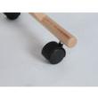 Ergonomikus térdelőszék, fekete/bükkfa, GROCO