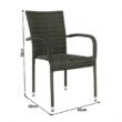 Kerti szék, szürke, VIPANA NEW