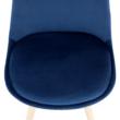 Szék, kék Velvet anyag /bükk, LORITA