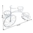 Kerékpár alakú RETRO virágcserép, fehér, PAVAR