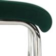 Étkezőszék, smaragd Velvet szövet/világos varrás, ABIRA NEW