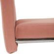 Étkezőszék, rózsaszín Velvet szövet/világos varrás, ABIRA NEW
