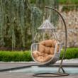 Függő fotel, barna/szürkésbarna, LUANDA