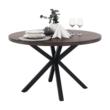 Étkezőasztal, sötét tölgy/fekete, MEDOR