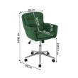 Irodai szék, anyag smaragd/króm, KAILA