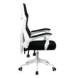 Irodai/gamer szék, fekete/fehér, YOKO