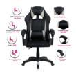 Irodai/gamer szék, szürke/fekete, JUKA