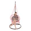Függő szék, pamut+fém/rózsaszín, AMADO 2 NEW