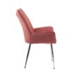 Étkezőszék, rózsaszín Velvet szövet/króm, MAIRIN TYP 2