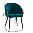 Dizájn fotel, smaragd velvet szövet/gold króm arany, DONKO