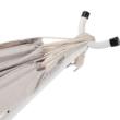Hinta háló tartóval, fehér/krémszínű, rojtok nélkül, FANTAL - double
