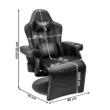 Gamer szék lábtartóval, fekete, ZORDAN