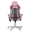 Irodai/gamer szék, rózsaszín/szürke/fehér, BARBIRE