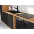 Ajtók mosogatógéphez, matt fekete/artisan tölgy, MONRO ZM 713x446