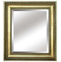 MALKIA TYP 10 Elegáns tükör fakerettel, arany színben