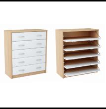 5-soros cipős szekrény, sonoma tölgyfa/fehér, VIVAT TYP 4