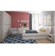 ANGEL hálószobabútor szett (szekrény / ágy / 2x éjjeliszekrény)