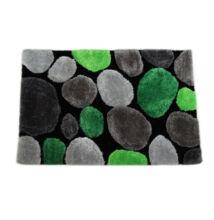 Szőnyeg,  zöld/szürke/fekete, 140x200, PEBBLE TYP 2