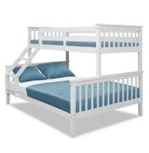emeletes szétszedhető ágy fehér BAGIRA