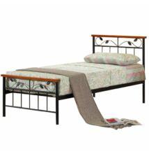 ágy lemezes ágyráccsal, cseresznyefa / fém, 90x200, MORENA