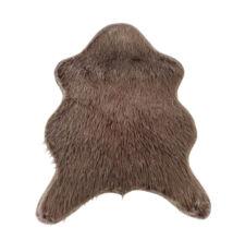 Műszőrme, szürke-barna-taupe/ezüst, 60x90, FOX TYP 4