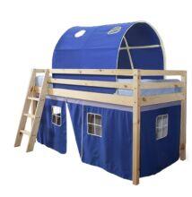 INDIGO ágy magasított ággyal, 90x200, Kék