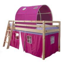 INDIGO ágy magasított ággyal, 90x200, Rózsaszín