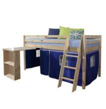 Magasított ágy íroasztallal,boróka/kék.ALZENA