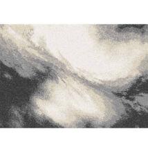 Szőnyeg,  fehér/barna/fekete, 133x190 TOCAR