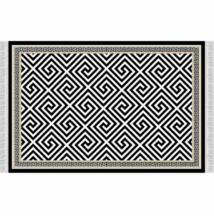 Szőnyeg, fekete-fehér minta, 160x230, MOTIVE