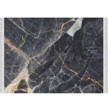 Szőnyeg, fekete márvány minta, 80x150, RENOX TYP 1