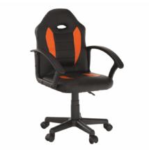 Irodai szék, textilbőr fekete/narancssárga, MADAN NEW
