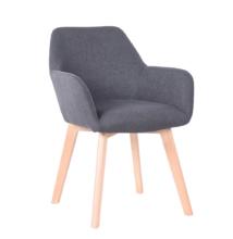 Dizájnos fotel, sötétszürke/bükk, CLORIN NEW