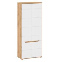 Akasztós szekrény, jobbos, wotan tölgy/fehér extra magas fényű HG, VINCO F