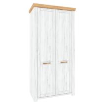 Akasztós szekrény F, tölgy craft arany/tölgy craft fehér, SUDBURY