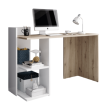 PC asztal, artisan tölgy/fehér matt, ANDREO